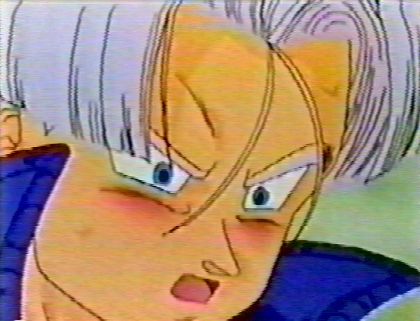 ¿No se ve lindo sonrojadito Mirai Trunks?