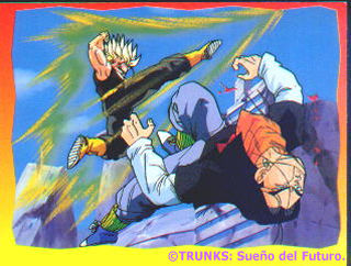 SSJ Trunks fase 2 contra androide #17