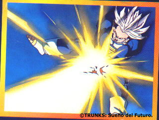 Trunks lanzando un poder